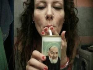 Blasfema Padre Pio Smoking Miss Wagon Vegan